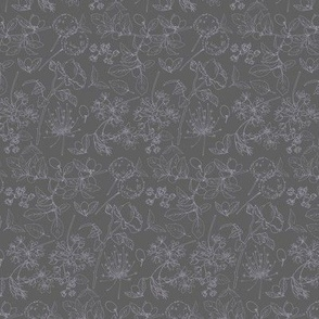 Nova grey floral Caverly Smith