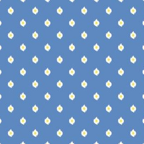 "4"" Blue White and Yellow Mix and Match Print"
