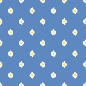 "8"" Blue White and Yellow Mix and Match Print"