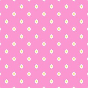 "4"" Bright Bubble Gum Pink and Yellow Mix and Match Print"