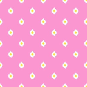 "8"" Bright Bubble Gum Pink and Yellow Mix and Match Print"
