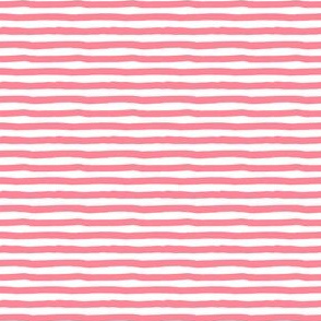 "4"" Bright Pink and White Stripes"