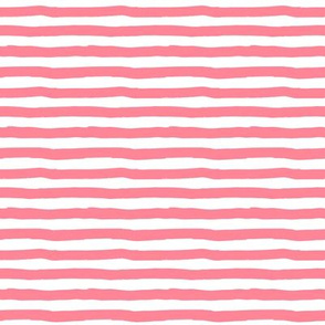 "8"" Bright Pink and White Stripes"
