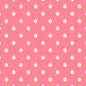 "4"" Bright Pink White and Yellow Print Mix and Match"
