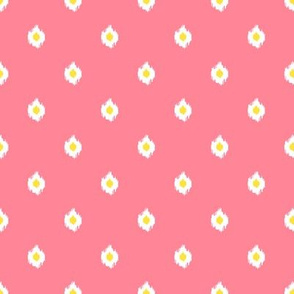 "8"" Bright Pink White and Yellow Print Mix and Match"