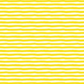 "4"" Bright Yellow and White Stripes"