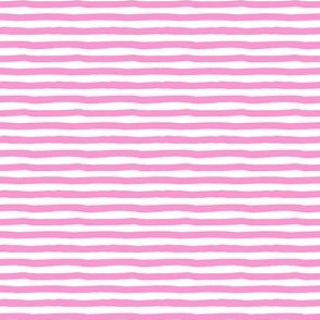 "4"" Bubblegum Pink and White Stripes"