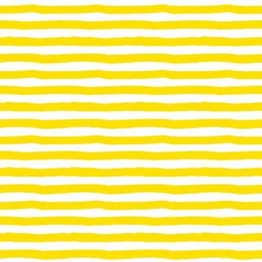 "8"" Bright Yellow and White Stripes"