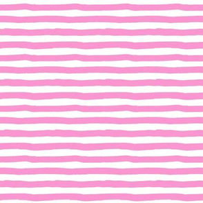 "8"" Bubblegum Pink and White Stripes"