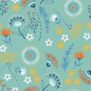 Maisy Floral Aqua