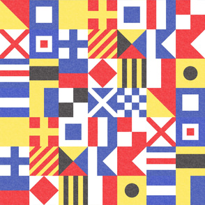 Maritime Flags Patchwork - Nautical Themed - LAD19