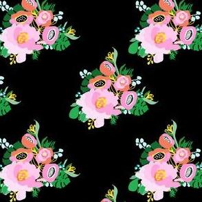 "4"" Calypso Flowers Black"