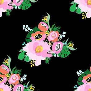 "8"" Calypso Flowers Black"