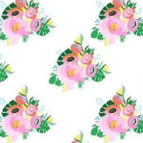 "4"" Calypso Flowers White"