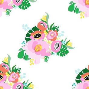 "8"" Calypso Flowers White"