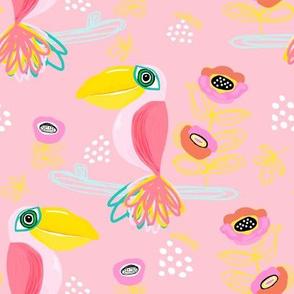 "8"" Calypso Toucan Pink"