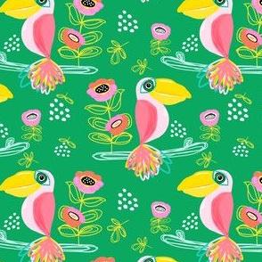 """4"""" Calypso Toucan Green"""
