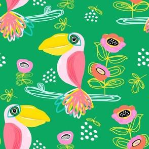"""8"""" Calypso Toucan Green"""
