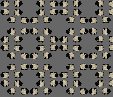 Tumbling Sheep - Grey fabric by spunky_eclectic on Spoonflower - custom fabric