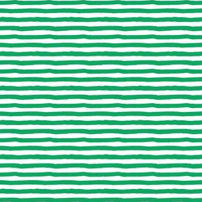 "4"" Green and White Stripes"