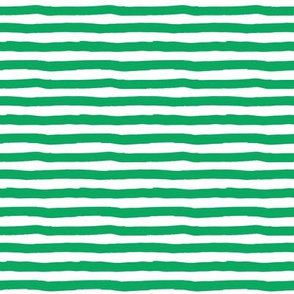 "8"" Green and White Stripes"
