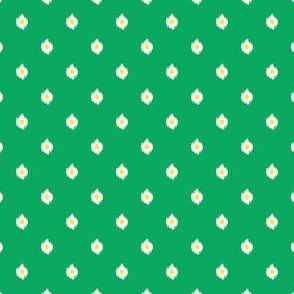 "4"" Green White and Yellow Print"