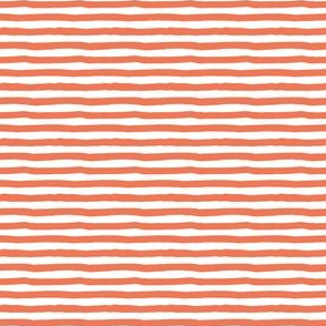 "4"" Orange and White Stripes"