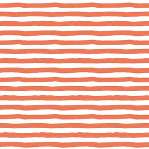 "8"" Orange and White Stripes"