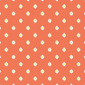 "4"" Orange White and Yellow Mix and Match Print"