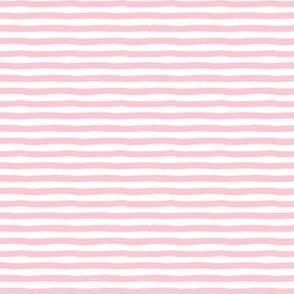 "4"" Pink and White Stripes"