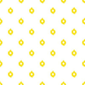 "8"" White and Yellow Print"