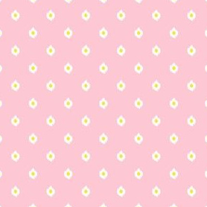 """4"""" Pink White and Yellow Print"""