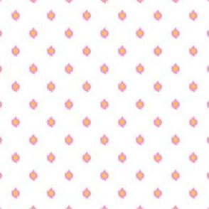 "4"" White Bubblegum Pink and Yellow Print"
