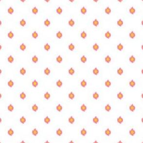 "4"" White Bright Pink and Yellow Print"