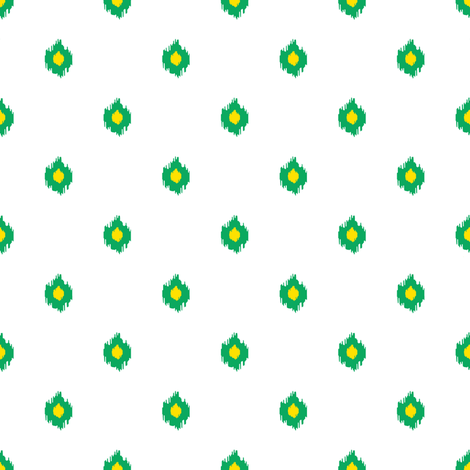 """8"""" White Green and Yellow Print fabric by shopcabin on Spoonflower - custom fabric"""