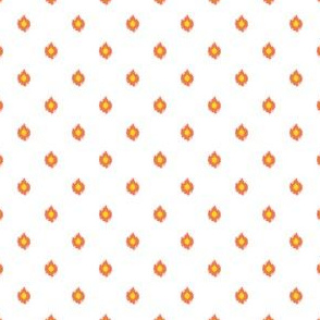 """4"""" White Orange and Yellow Print"""
