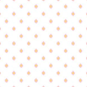 """4"""" White Pink and Yellow Print"""