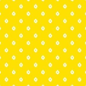 "4"" Yellow and White Print"