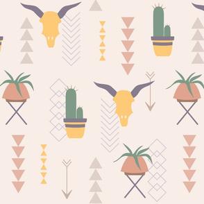 desert modernism pattern pink