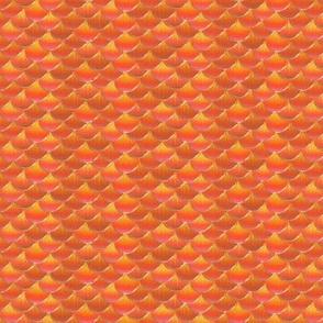 fish scales orange koi