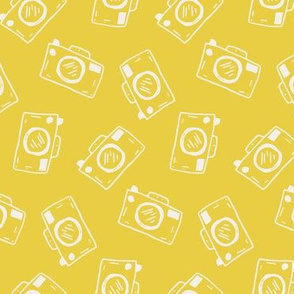 Camera Doodles on Bright Yellow