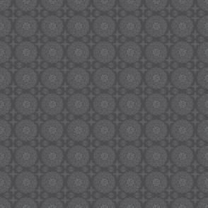 Circle mandala and dots closer grey