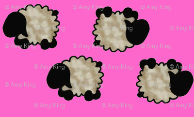 Tumbling Sheep in the Pink