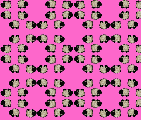 Tumbling Sheep in the Pink fabric by spunky_eclectic on Spoonflower - custom fabric