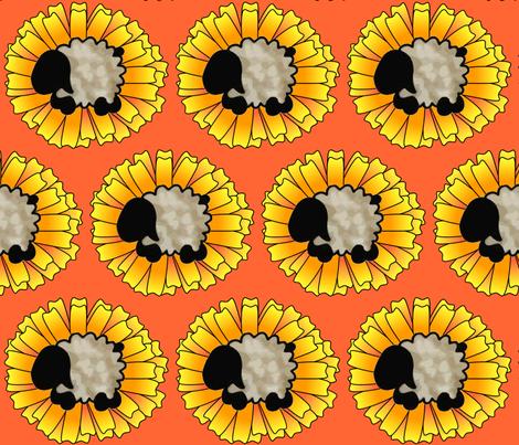 Calendula Sheep fabric by spunky_eclectic on Spoonflower - custom fabric