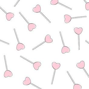 light pink lollipops