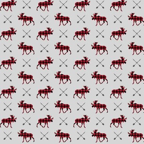 (micro scale)  moose and arrows on fog (small scale) || buffalo plaid C19BS