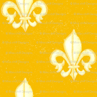 19-02A Mustard Yellow Ochre Home Decor Large Fleur _ Miss Chiff Designs