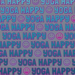 yoga happy faces - sea