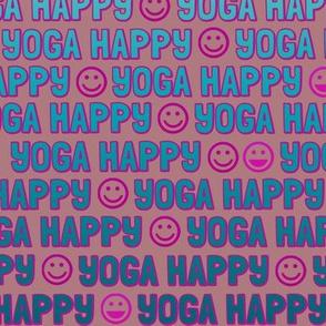 yoga happy faces - sea on sand